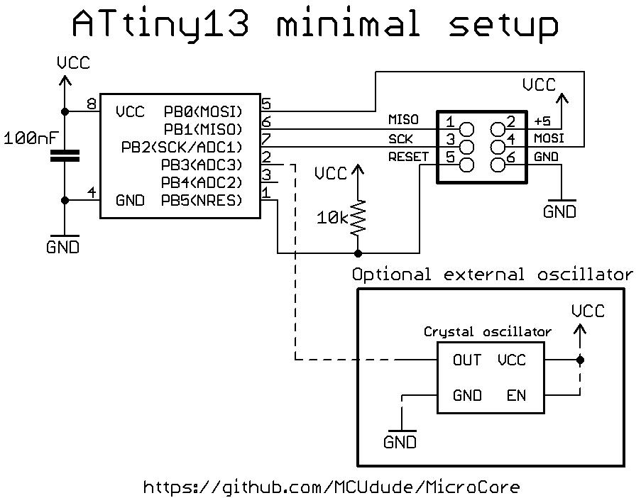 ATtiny13MinimalSetup