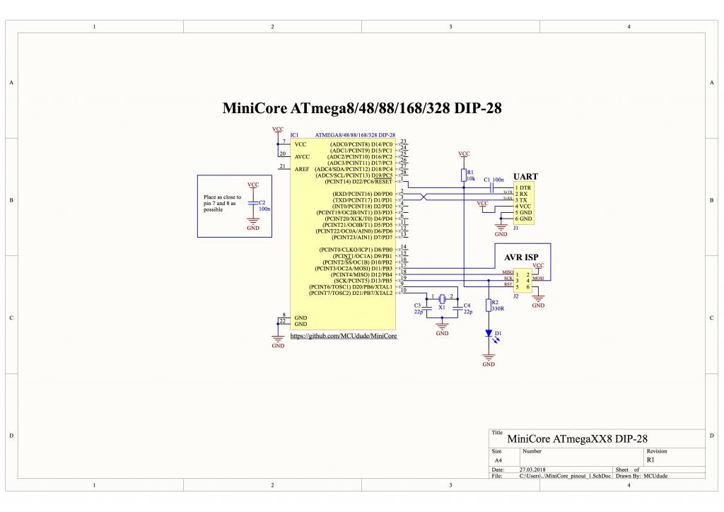 Schematic Atmega8-48-88-168-328_DIP28