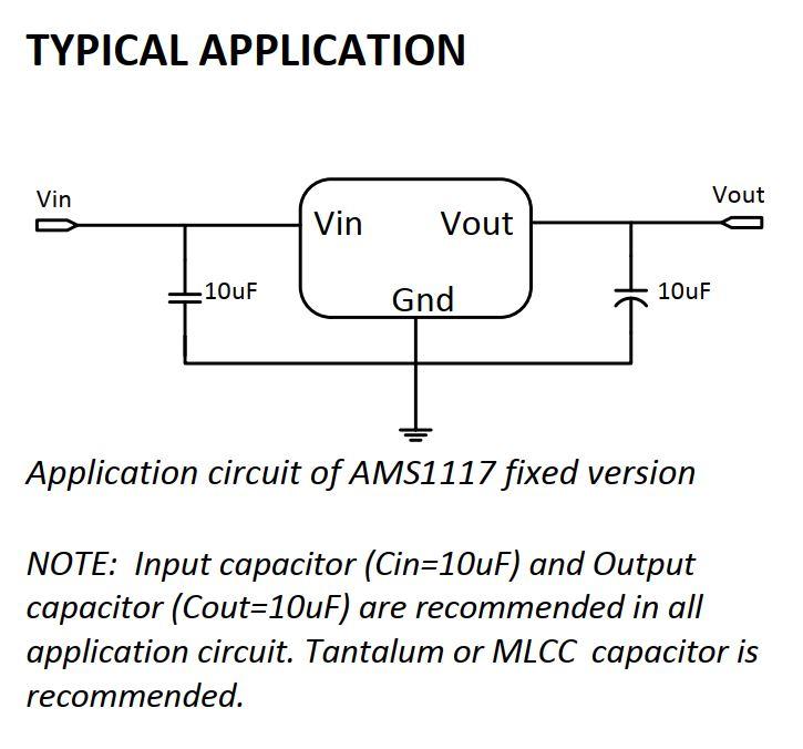 مدار راه انداز AMS1117